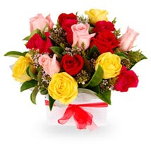 Country Rose Box: Valentines Day Flowers Australia