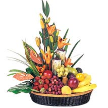 Fruit n Flower Basket: Flowers to Brisbane