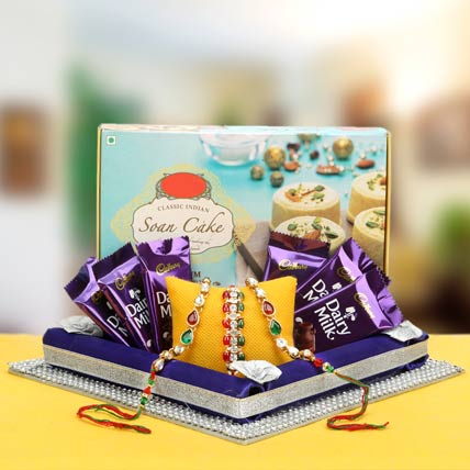 Double Trio Rakhi Hamper CND