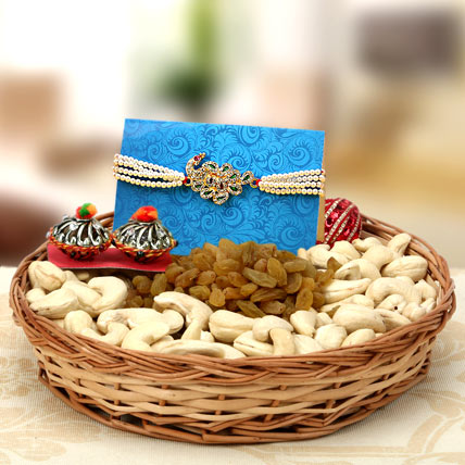 Pearly kundan delight rakhi