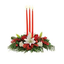 Candlelight Centerpiece: Lilies