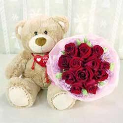 Bear n Flower A3  CIN