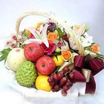 Flower fruit basket CIN: Send Gifts to China