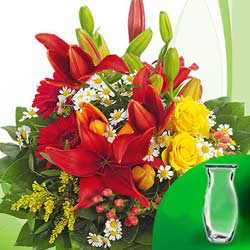 Flower Bouquet Symphonie with vase