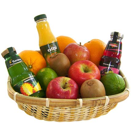 Our Fruit and Juice Gift Basket