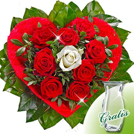 Rose Bouquet Amore with vase