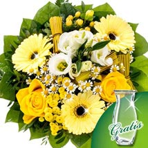 Golden Glow: Mothers Day Flower Bouquets - Germany