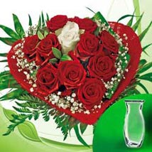 Rose Bouquet vase: Anniversary Flower Bouquets to Germany
