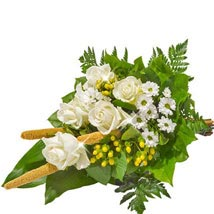 Sympathy Bouquet in White: Birthday Flower Bouquets - Germany
