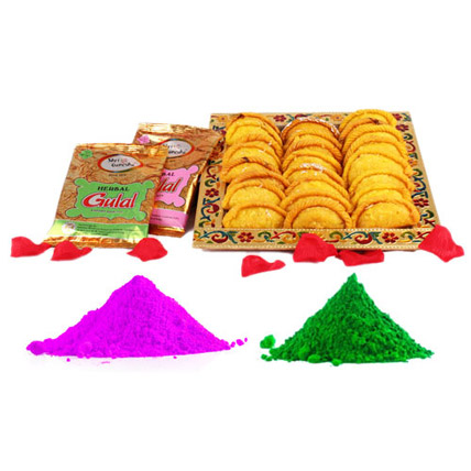 1 Kg Gujiya with Colours