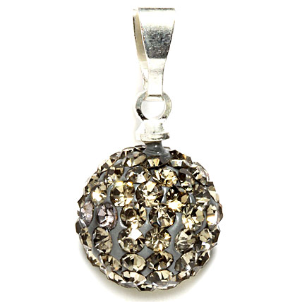 2 cms Golden Peacock Silver Plated Pendant