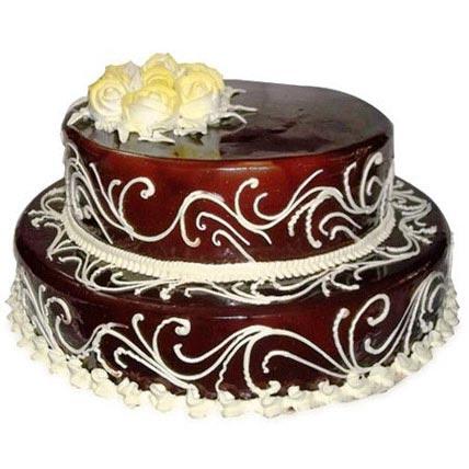 2 Tier Chocolate Cake 3kg Eggless