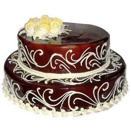 2 Tier Chocolate Cake 4kg Eggless