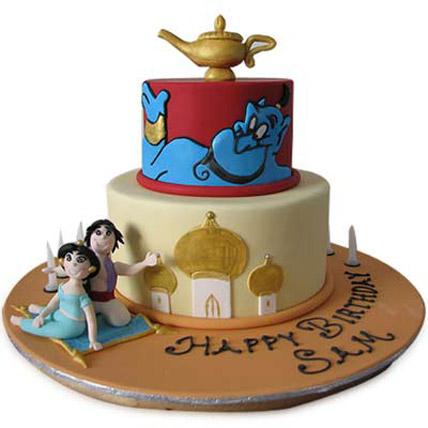 Adorable Aladdin Jasmine Cake 4kg Eggless