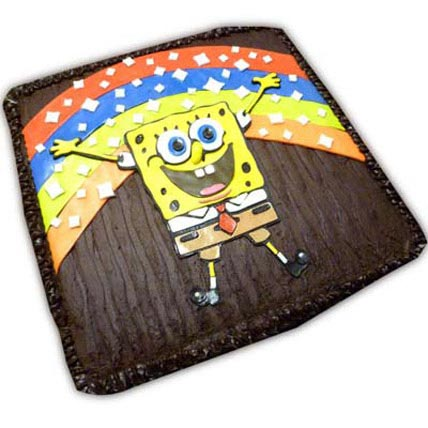 Adorable Sponge Bob 3kg Eggless