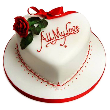Birthday Cake Designs Love : All My Love Cake 1kg Gift All My Love Cake 1kg - Ferns N ...