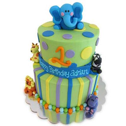 Animal Baby Shower Cake 4kg Eggless