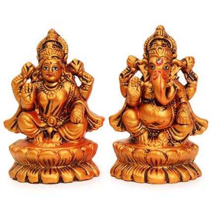 Auspicious Lakshmi Ganesha Statues