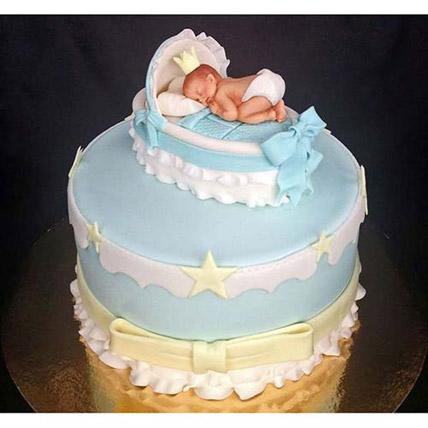 Baby In The Crib Fondant Cake 4kg