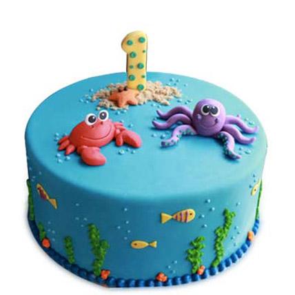 Baby Sea Animals Cake 2kg