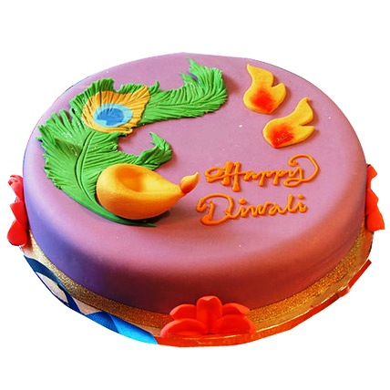 Beautiful Deepavali Cake 2kg Eggless