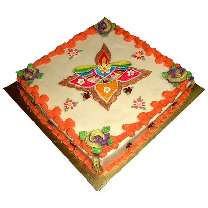 Beautiful Rangoli Cake 3kg Eggless