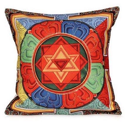 Beautiful Thangka Print Cushion