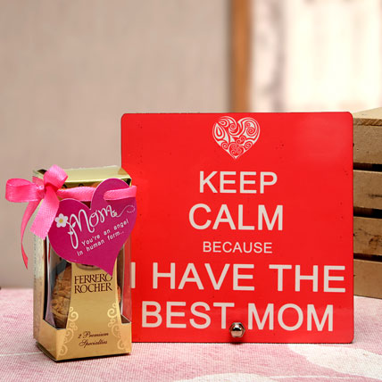Best Mom Plaque and Chocolates