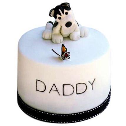 Black White Dog Cake 3kg