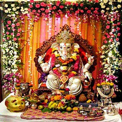 Blissful Ganesh Chaturthi Decoration Gift Blissful Ganesh Chaturthi 7 5 Feet Tall And 1 Feet
