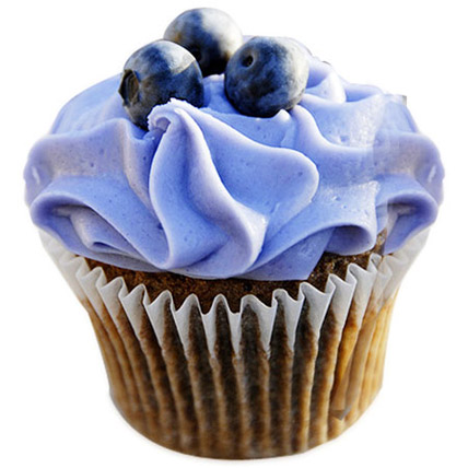 Blue Berry Cupcakes 12 Eggless