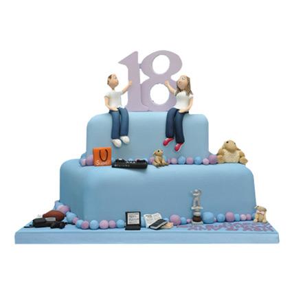 Blue Delight Birthday Cake 4kg Eggless