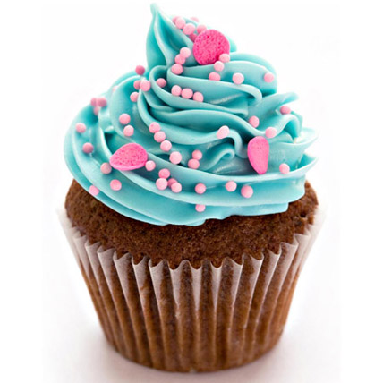 Blue Pink Fantasy Cupcakes 24 Eggless