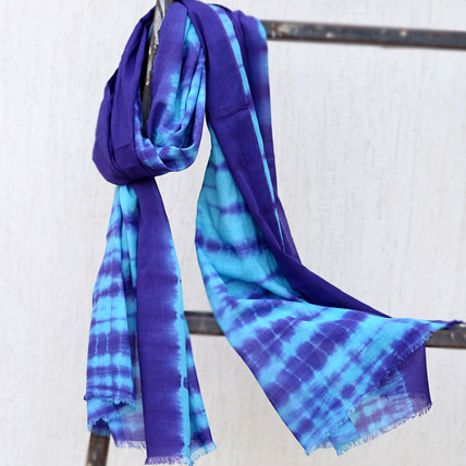 Blue Printed Scarf