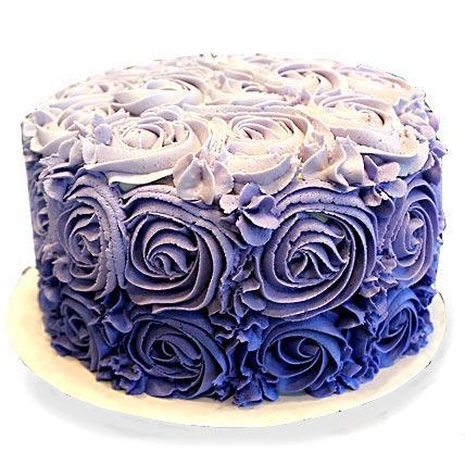 Blue Rose Cake 2kg Eggless