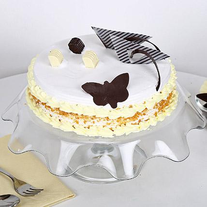 Butterscotch Round Cake Half kg Eggless