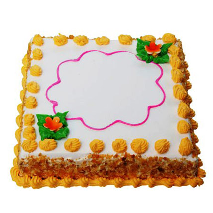 Butterscotch Square Cake 1kg Eggless