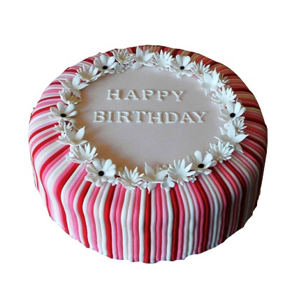 Candy Stripe Cake 3kg Eggless