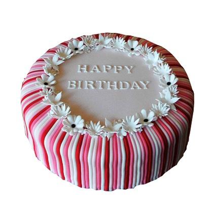 Candy Stripe Cake 3kg Eggless