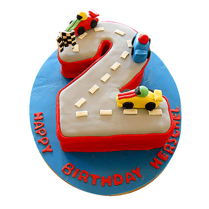 Car Race Birthday Cake 2kg