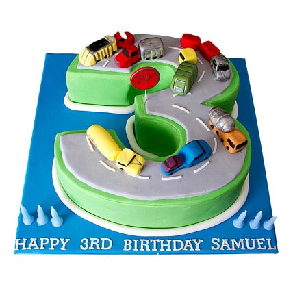Cars Birthday Cake 2kg