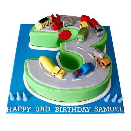 Cars Birthday Cake 4kg Eggless