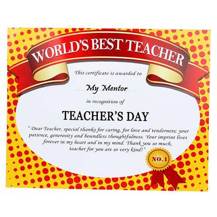 Certificate For Teacher