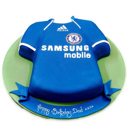 Chelsea Jersey Samsung Cake 5kg Eggless
