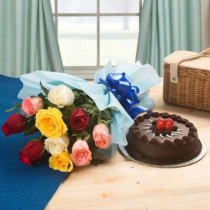 Chocolate Cake and Roses 1