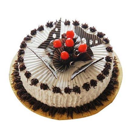 Chocolate Cherry Charm Cake 1kg Eggless