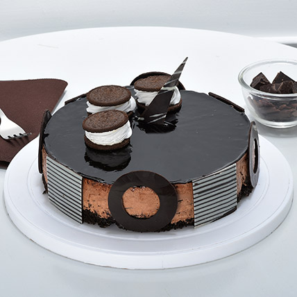 Chocolate Oreo Mousse Cake 2kg Eggless