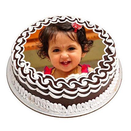 Chocolate Photo Cake 3kg Eggless