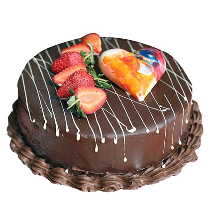 Chocolate Strawberry Cake 1kg Eggless
