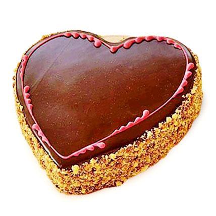 Chocolaty Heart Cake 2kg Eggless